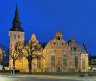 Εκκλησία της ιερής τριάδας σε Kristianstad στο σούρουπο, Σουηδία Στοκ φωτογραφία με δικαίωμα ελεύθερης χρήσης