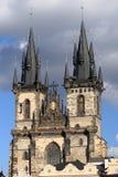 Εκκλησία της κυρίας μας πριν από Tyn στην Πράγα Στοκ φωτογραφία με δικαίωμα ελεύθερης χρήσης