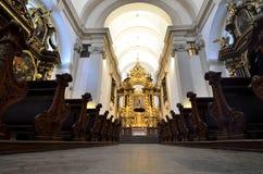 Εκκλησία της κυρίας νίκης μας με εσωτερικές λεπτομέρειες της Πράγας Στοκ εικόνα με δικαίωμα ελεύθερης χρήσης