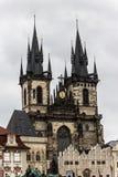 Εκκλησία της κυρίας πριν από Tyn Στοκ Εικόνα