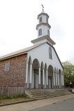 Εκκλησία της κυρίας Dolour μας Dalcahue, νησί Chiloe, Χιλή Στοκ Εικόνες