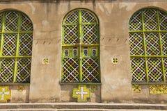 Εκκλησία της κυρίας Mary Zion μας, η πιό ιερή θέση για όλους τους ορθόδοξους Αιθίοπες Aksum, Αιθιοπία στοκ φωτογραφία