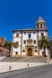 Εκκλησία της κυρίας Socorro μας στη Ronda (Ισπανία) Στοκ Εικόνες