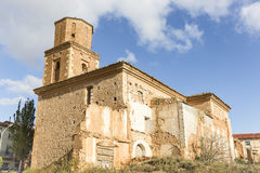 Εκκλησία της μονής του Σαν Φρανσίσκο Ariza στην πόλη, επαρχία Σαραγόσα, Αραγονία, Ισπανία Στοκ Εικόνα