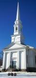 Εκκλησία της Νέας Αγγλίας το χειμώνα Στοκ Φωτογραφία