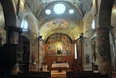 Εκκλησία της Σάντα Μαρία de Arties Στοκ Εικόνες
