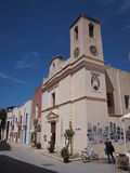 Εκκλησία της Mary ο ευχάριστος, Marettimo, Σικελία, Ιταλία Στοκ Εικόνες