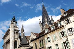 Εκκλησία της Notre-Dame στη Ντιζόν, Γαλλία Στοκ εικόνα με δικαίωμα ελεύθερης χρήσης