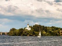 Εκκλησία του Άγιου Βασίλη στο νησί Στοκ Φωτογραφία