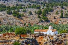 Εκκλησία του αρχαγγέλου Michael σε Aradena, Κρήτη Στοκ φωτογραφία με δικαίωμα ελεύθερης χρήσης