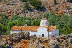 Εκκλησία του αρχαγγέλου Michael, Aradena, Κρήτη Στοκ Φωτογραφίες