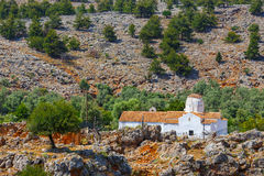 Εκκλησία του αρχαγγέλου Michael, Aradena, Κρήτη Στοκ Εικόνες