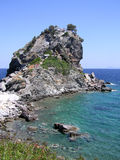 Εκκλησία του Ιωάννη επιβαρύνσεων στο νησί της Σκοπέλου στοκ φωτογραφίες με δικαίωμα ελεύθερης χρήσης