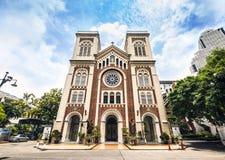 Εκκλησία του καθεδρικού ναού υπόθεσης της Ασίας, Μπανγκόκ Ταϊλάνδη. Τουριστικό αξιοθέατο. Στοκ Φωτογραφίες