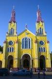 Εκκλησία του Σαν Φρανσίσκο σε Castro, αρχιπέλαγος Chiloe, Χιλή Στοκ φωτογραφία με δικαίωμα ελεύθερης χρήσης
