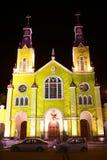 Εκκλησία του Σαν Φρανσίσκο σε Castro, αρχιπέλαγος Chiloe, Χιλή Στοκ Εικόνες