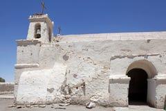 Εκκλησία του Σαν Φρανσίσκο, Chiu Chiu, Χιλή Στοκ Φωτογραφίες