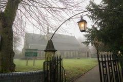 Εκκλησία του σημαδιού του ST στην ομίχλη Στοκ εικόνες με δικαίωμα ελεύθερης χρήσης