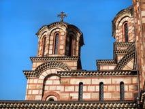 Εκκλησία του σημαδιού του ST - belltower και θόλοι στοκ εικόνα με δικαίωμα ελεύθερης χρήσης