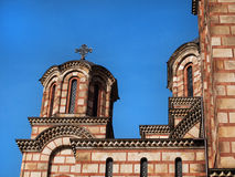 Εκκλησία του σημαδιού του ST - belltower και θόλοι στοκ φωτογραφία