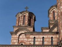 Εκκλησία του σημαδιού του ST - belltower και θόλοι στοκ φωτογραφία με δικαίωμα ελεύθερης χρήσης