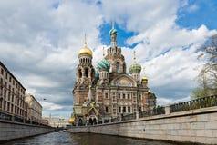 Εκκλησία του λυτρωτή στο αίμα, Αγία Πετρούπολη στοκ φωτογραφία