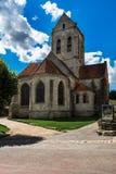 Εκκλησία του Auvers-sur-Oise, αναμνηστικό του Vincent Βαν Γκογκ Στοκ Εικόνες
