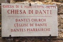 Εκκλησία του Dante ` s Στοκ Εικόνα