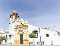 Εκκλησία του Divino Σαλβαδόρ Castilblanco de Los Arroyos στην πόλη, επαρχία της Σεβίλης, Ισπανία στοκ εικόνες με δικαίωμα ελεύθερης χρήσης