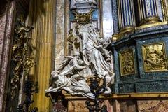Εκκλησία του Gesu, Ρώμη, Ιταλία Στοκ φωτογραφία με δικαίωμα ελεύθερης χρήσης