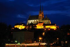 Εκκλησία του Peter και του Paul, Μπρνο, νότια Μοραβία, Τσεχία Στοκ φωτογραφία με δικαίωμα ελεύθερης χρήσης
