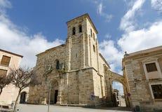 Εκκλησία του SAN Pedro και του SAN Ildefonso, Zamora Ισπανία Στοκ Φωτογραφία