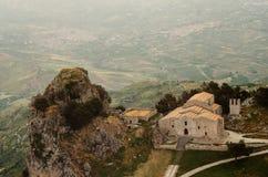 Εκκλησία του SAN Salvatore σε Caltabellotta (Σικελία, Ιταλία) Στοκ Εικόνες