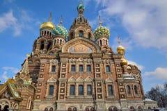 Εκκλησία του savior στο αίμα Στοκ Φωτογραφία