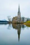 Εκκλησία του ST Alban στην Κοπεγχάγη, Δανία Στοκ Φωτογραφία