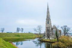 Εκκλησία του ST Alban στην Κοπεγχάγη, Δανία Στοκ φωτογραφία με δικαίωμα ελεύθερης χρήσης