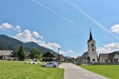 Εκκλησία του ST Andrew σε Podkoren, Σλοβενία Στοκ εικόνα με δικαίωμα ελεύθερης χρήσης