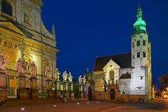 Εκκλησία του ST Andrew ` s και εκκλησία κοινοτήτων του ST Peter και Paul στην Κρακοβία Στοκ Φωτογραφία