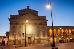 Εκκλησία του ST Anne στη Dawn στη Βαρσοβία Στοκ φωτογραφία με δικαίωμα ελεύθερης χρήσης