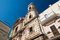 Εκκλησία του ST Benedetto Acquaviva delle Fonti Πούλια Ιταλία στοκ φωτογραφία