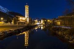 Εκκλησία του ST Charles στο ST Moritz στην Ελβετία Στοκ εικόνα με δικαίωμα ελεύθερης χρήσης