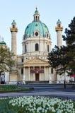 Εκκλησία του ST Charles Borromeo και του παρεκκλησιού αναζοωγόνησης Στοκ εικόνα με δικαίωμα ελεύθερης χρήσης