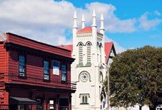 Εκκλησία του ST James στον Τάμεση Στοκ Φωτογραφία