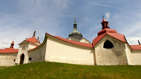 Εκκλησία του ST John Nepomuk, πράσινο βουνό Στοκ Φωτογραφία