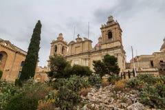 Εκκλησία του ST Lorenz, Vittoriosa, Μάλτα Στοκ εικόνα με δικαίωμα ελεύθερης χρήσης