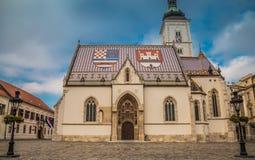 Εκκλησία του ST Mark ` s στο Ζάγκρεμπ Στοκ εικόνες με δικαίωμα ελεύθερης χρήσης
