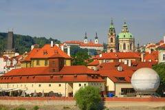 Εκκλησία του ST Nicholas, Κάστρο της Πράγας, μικρότερη πόλη, Moldau, Vltava, Πράγα, Δημοκρατία της Τσεχίας Στοκ Εικόνα