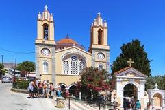 Εκκλησία του ST Panteleimon στο νησί της Ρόδου στην Ελλάδα Στοκ Εικόνες