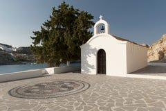 Εκκλησία του ST Paul s, Lindos, Ρόδος στοκ εικόνα με δικαίωμα ελεύθερης χρήσης