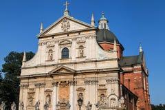 Εκκλησία του ST Peter και του ST Paul στην Κρακοβία Στοκ εικόνα με δικαίωμα ελεύθερης χρήσης